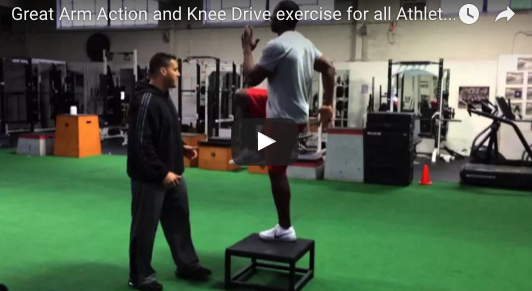 arm action knee drive exercise video thumbnail