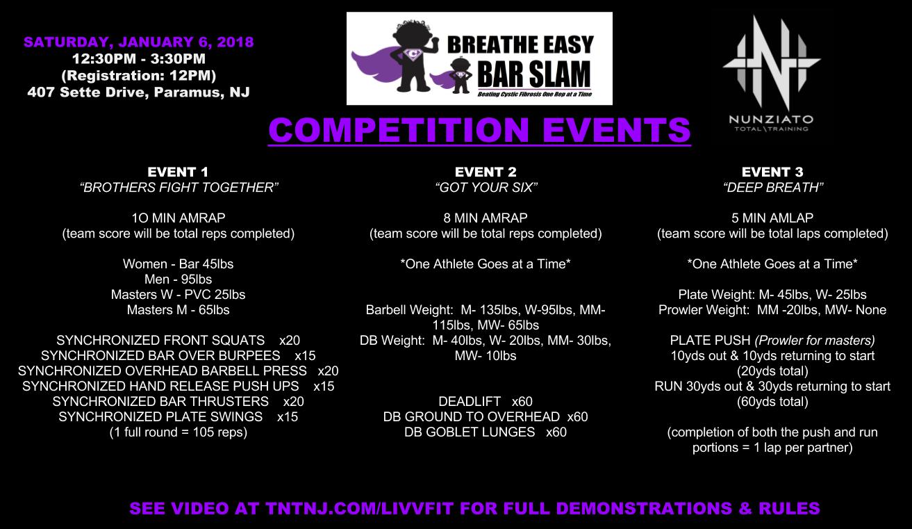 Breathe Easy Bar Slam Events 2018